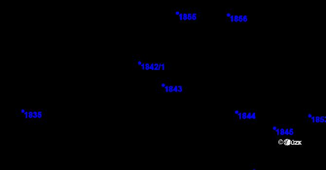 Parcela st. 1843 v k.ú. Teplice, Katastrální mapa