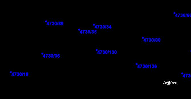 Parcela st. 4730/130 v k.ú. Teplice, Katastrální mapa