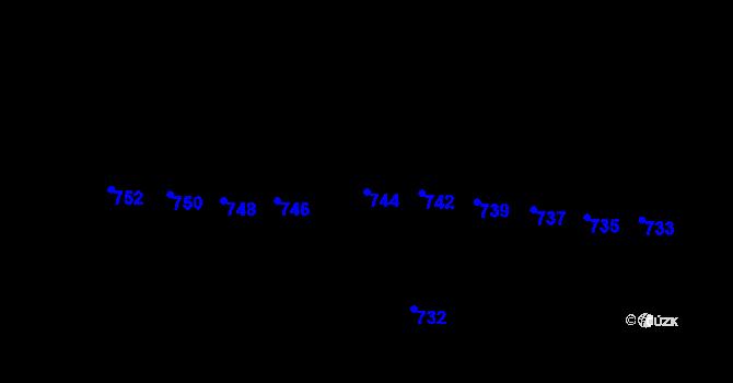 Parcela st. 744 v k.ú. Horní Těrlicko, Katastrální mapa