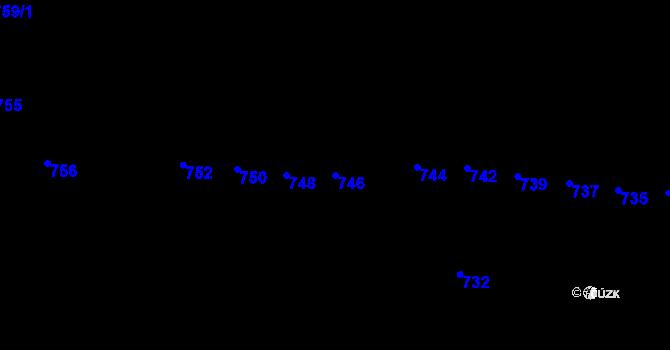 Parcela st. 746 v k.ú. Horní Těrlicko, Katastrální mapa