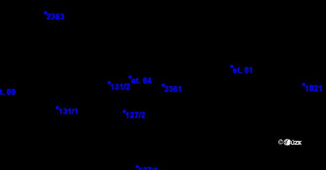 Parcela st. 2361 v k.ú. Tísek, Katastrální mapa