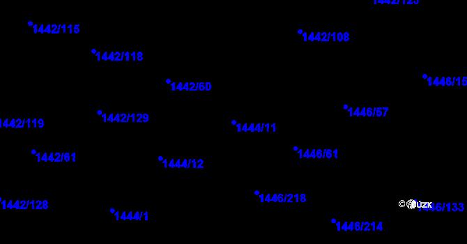 Parcela st. 1444/11 v k.ú. Troubsko, Katastrální mapa