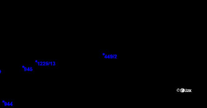 Parcela st. 449/2 v k.ú. Bozdíš, Katastrální mapa