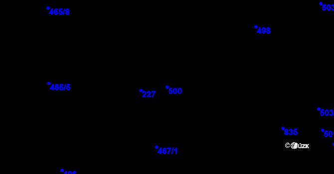 Parcela st. 500 v k.ú. Bozdíš, Katastrální mapa