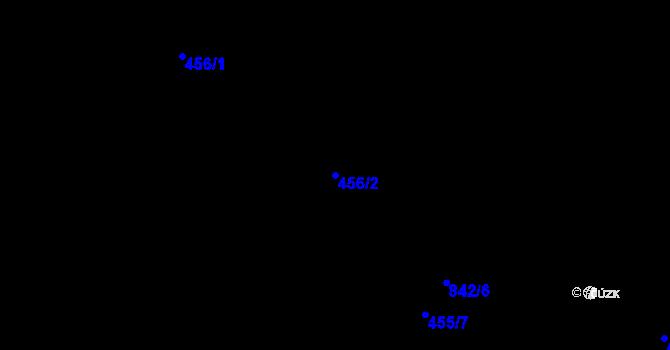 Parcela st. 456/2 v k.ú. Bozdíš, Katastrální mapa