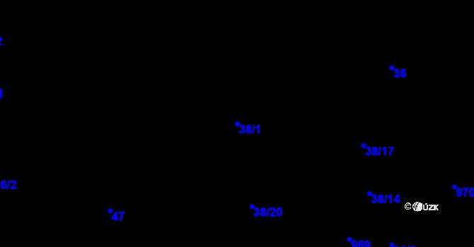 Parcela st. 38/1 v k.ú. Třebnice u Domažlic, Katastrální mapa