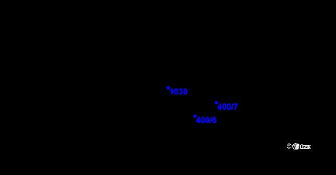 Parcela st. 1030 v k.ú. Třebnice u Domažlic, Katastrální mapa