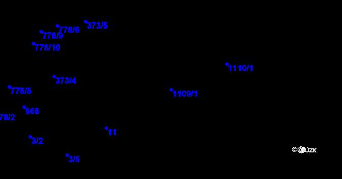 Parcela st. 1109/1 v k.ú. Třebnice u Domažlic, Katastrální mapa