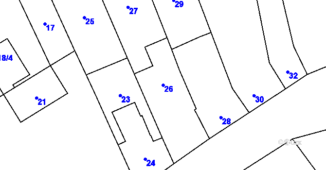 Parcela st. 26 v k.ú. Týneček, Katastrální mapa