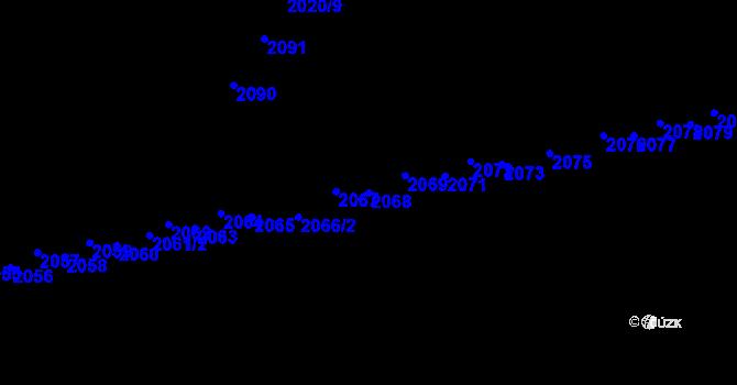 Parcela st. 2068 v k.ú. Uhřice u Kyjova, Katastrální mapa