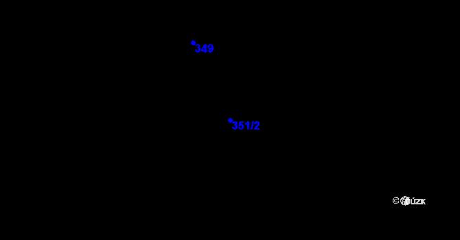 Parcela st. 351/2 v k.ú. Újezd u Uničova, Katastrální mapa