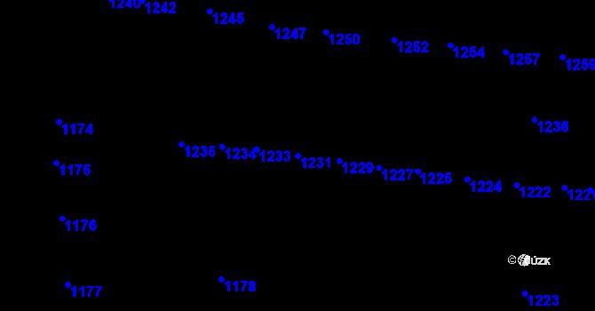 Parcela st. 1231 v k.ú. Újezd u Brna, Katastrální mapa
