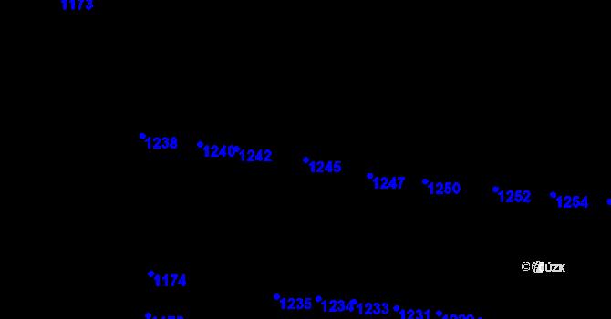 Parcela st. 1245 v k.ú. Újezd u Brna, Katastrální mapa