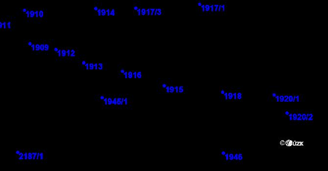 Parcela st. 1915 v k.ú. Újezd u Brna, Katastrální mapa