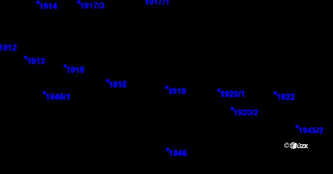 Parcela st. 1918 v k.ú. Újezd u Brna, Katastrální mapa