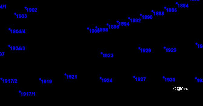 Parcela st. 1923 v k.ú. Újezd u Brna, Katastrální mapa