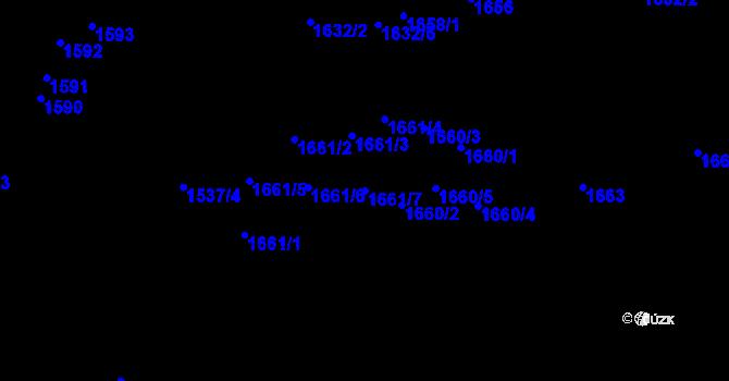 Parcela st. 1661/7 v k.ú. Újezd u Brna, Katastrální mapa
