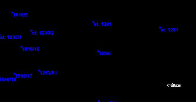 Parcela st. 189/5 v k.ú. Úpice, Katastrální mapa