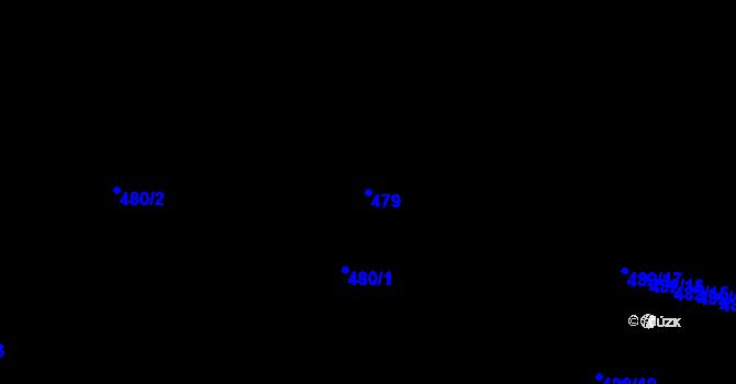 Parcela st. 479 v k.ú. Ústí nad Labem, Katastrální mapa