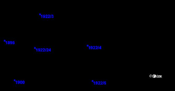 Parcela st. 1922/4 v k.ú. Ústí nad Labem, Katastrální mapa