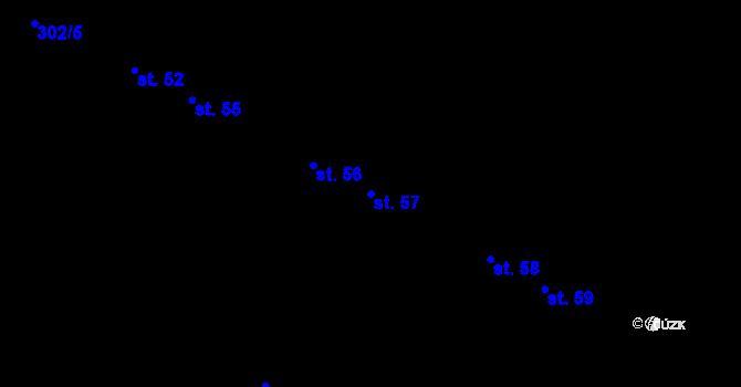 Parcela st. 57 v k.ú. Václavy, Katastrální mapa