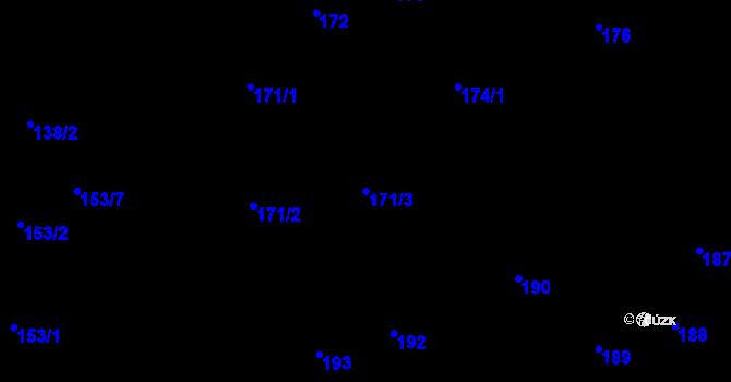 Parcela st. 171/3 v k.ú. Vejprnice, Katastrální mapa