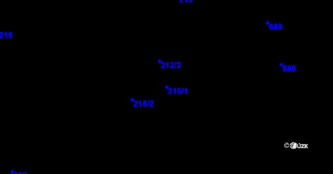Parcela st. 215/1 v k.ú. Velíková, Katastrální mapa
