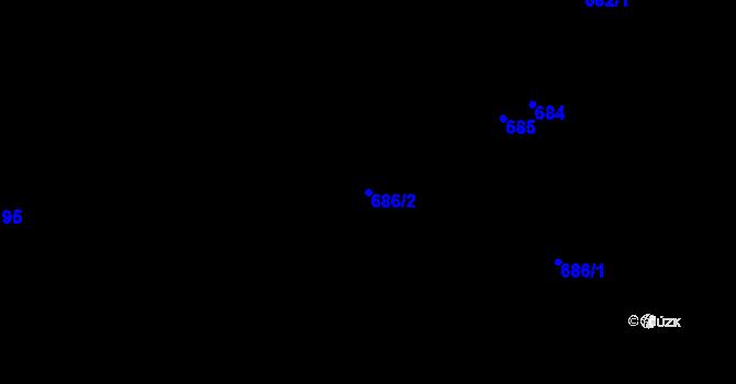 Parcela st. 686/2 v k.ú. Velíková, Katastrální mapa