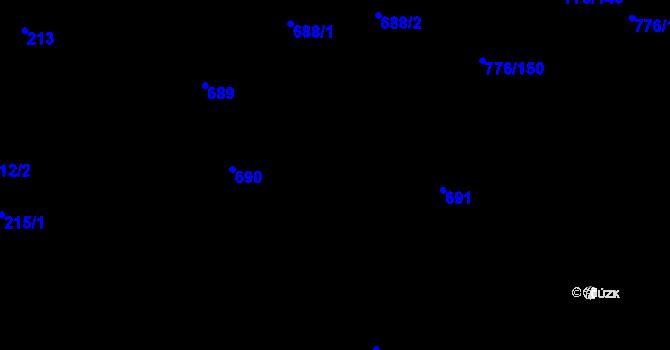 Parcela st. 691 v k.ú. Velíková, Katastrální mapa