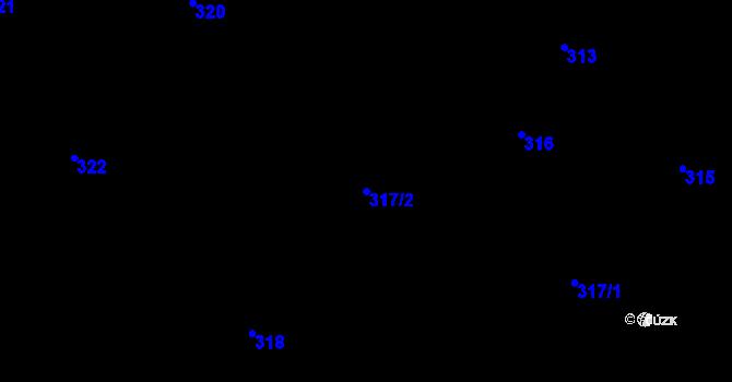 Parcela st. 317/2 v k.ú. Velíková, Katastrální mapa