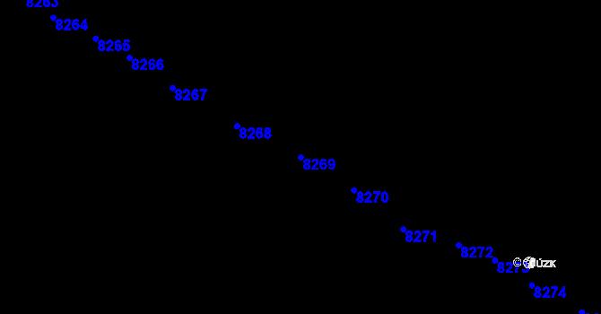 Parcela st. 8269 v k.ú. Velké Pavlovice, Katastrální mapa