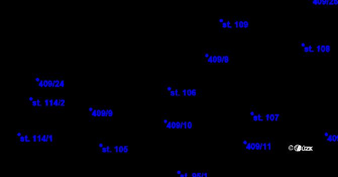 Parcela st. 106 v k.ú. Horní Paseky, Katastrální mapa