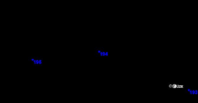 Parcela st. 194 v k.ú. Horní Paseky, Katastrální mapa