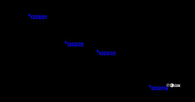 Parcela st. 1232/23 v k.ú. Veselíčko u Žďáru nad Sázavou, Katastrální mapa
