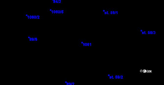 Parcela st. 1081 v k.ú. Poustka u Frýdlantu, Katastrální mapa