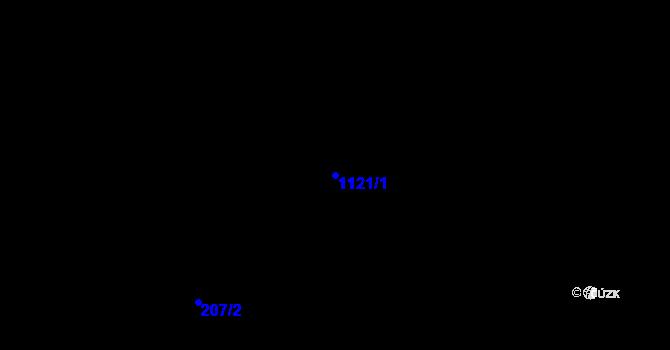 Parcela st. 1121/1 v k.ú. Poustka u Frýdlantu, Katastrální mapa
