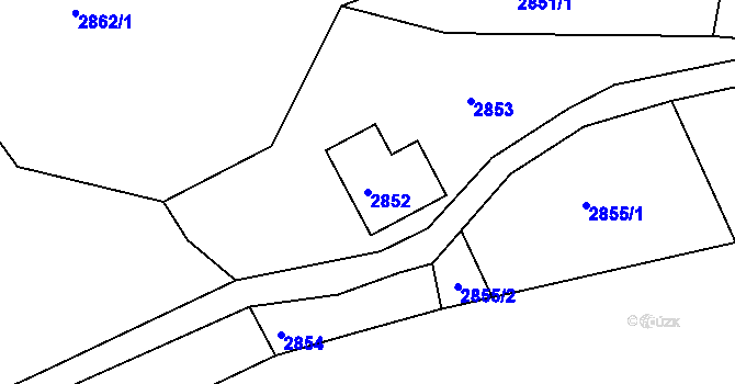 Parcela st. 2852 v k.ú. Vratislavice nad Nisou, Katastrální mapa