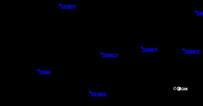 Parcela st. 3396/3 v k.ú. Vratislavice nad Nisou, Katastrální mapa