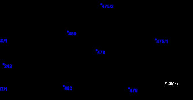 Parcela st. 478 v k.ú. Vřesina u Bílovce, Katastrální mapa