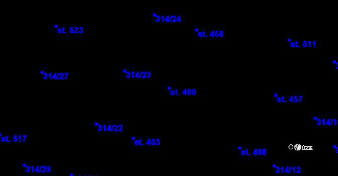Parcela st. 460 v k.ú. Vtelno, Katastrální mapa