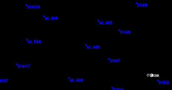 Parcela st. 469 v k.ú. Vtelno, Katastrální mapa