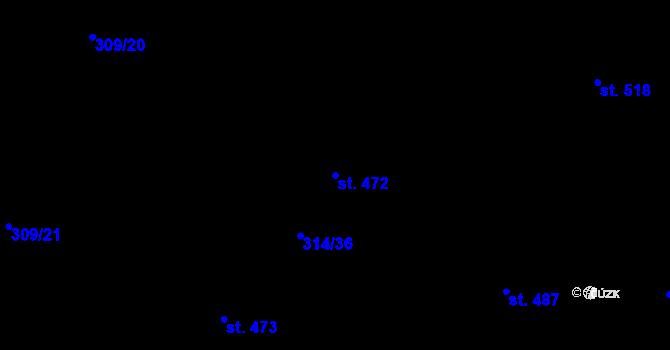 Parcela st. 472 v k.ú. Vtelno, Katastrální mapa
