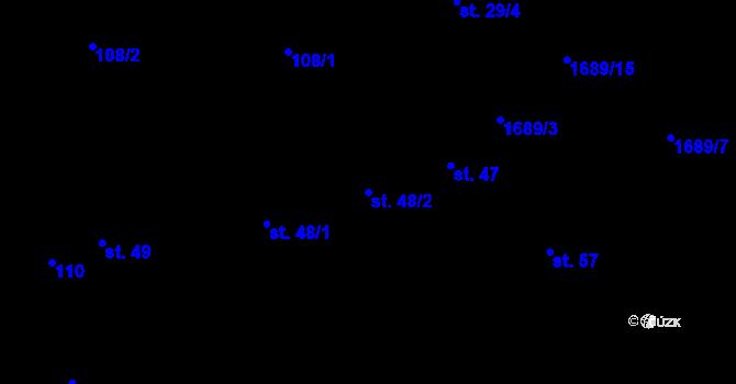 Parcela st. 48/2 v k.ú. Vyskytná nad Jihlavou, Katastrální mapa