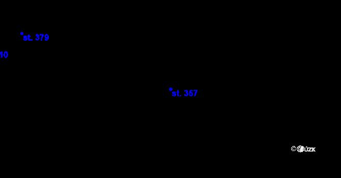 Parcela st. 357 v k.ú. Vysoké nad Jizerou, Katastrální mapa