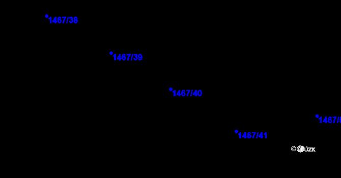 Parcela st. 1467/40 v k.ú. Zádveřice, Katastrální mapa