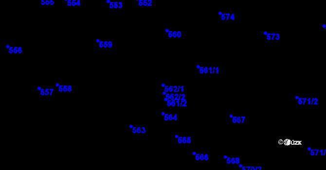 Parcela st. 562/1 v k.ú. Zákupy, Katastrální mapa