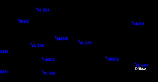 Parcela st. 237 v k.ú. Zásada, Katastrální mapa