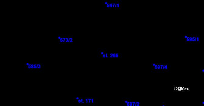 Parcela st. 266 v k.ú. Zásada, Katastrální mapa