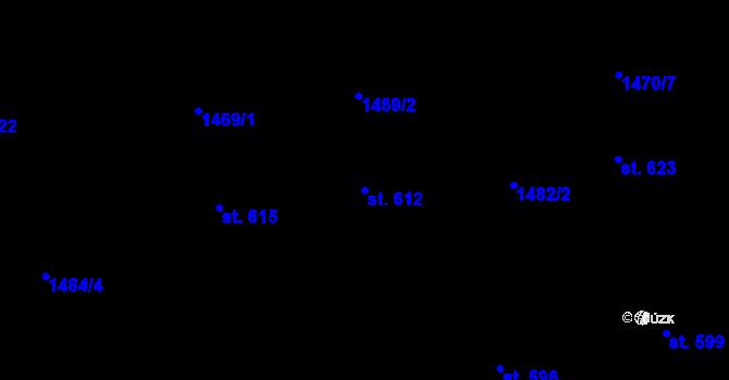 Parcela st. 612 v k.ú. Zásada, Katastrální mapa