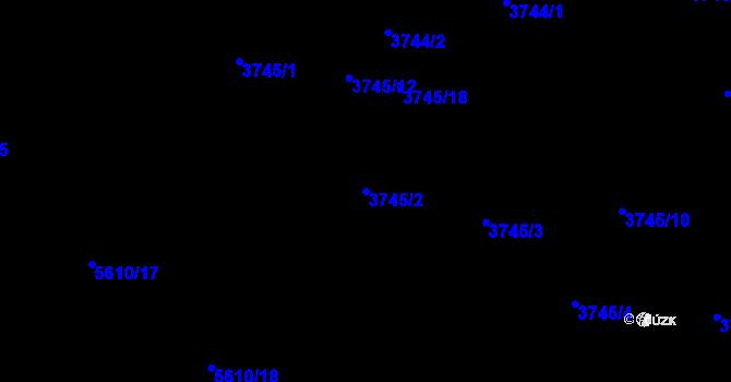 Parcela st. 3745/2 v k.ú. Znojmo-město, Katastrální mapa